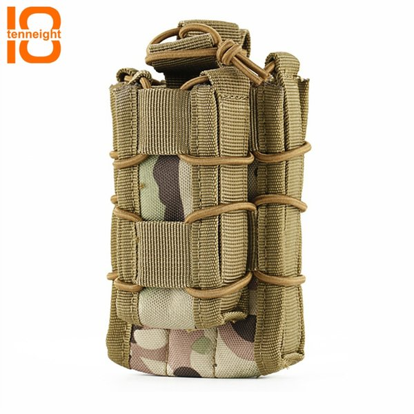 TENNEIGHT Tactical Nylon Double M4 Pistol Magazine Pouch MOLLE Airsoft Hunting Bag Accessories Military Fast Tactical Mag Pouch #85656
