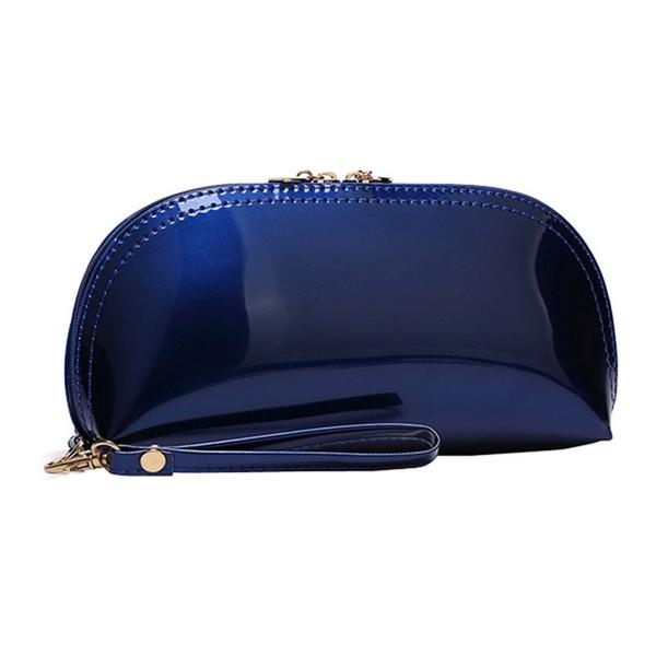 Neue Mode Frauen Einfarbig Reißverschluss Tageskupplungen Taschen Helle Oberfläche Handtaschen Leder Münze Telefon Geldbörse Handtaschen # 328237