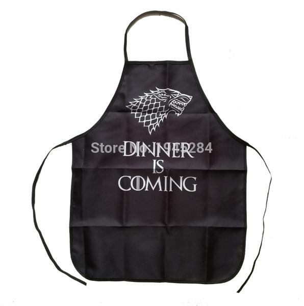 Game of Thrones Dinner is Coming Delantal para mujer Hombre Barbacoa Limpieza Delantal de cocina Accesorios para hornear Regalo divertido Uso diario en el hogar