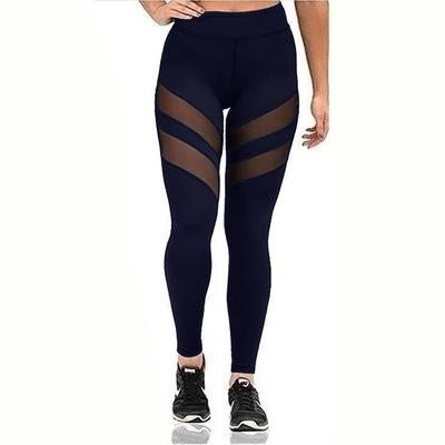 Leggings for Women Fitness Plus Size Sports Yoga Pants Sexy Hollow Leggings Tight Trousers Mesh Size S-3XL