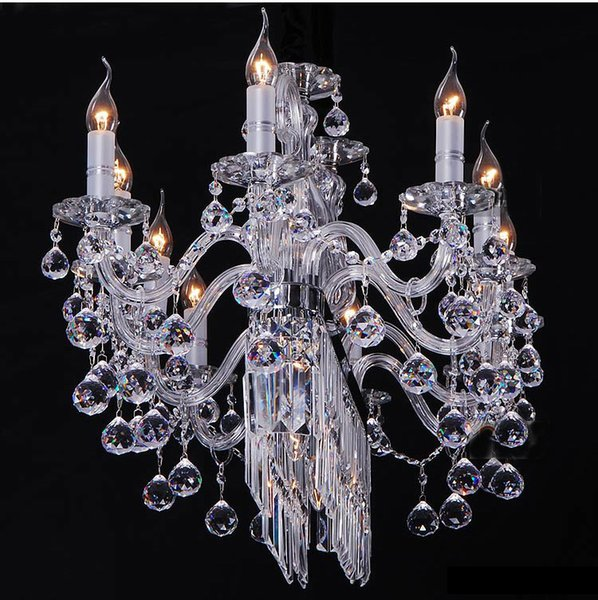 Candle Crystal Chandeliers Light K9 Crystal Chandeliers Lustre Villa Chandeliers Light Lighting +Free shipping!