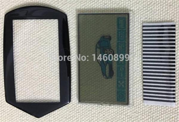 A91 esnek kablo A91 LCD ekran + LCD tuş Kılıf Kapak 2 yönlü Starline uzaktan kumanda anahtarı Fob araba için