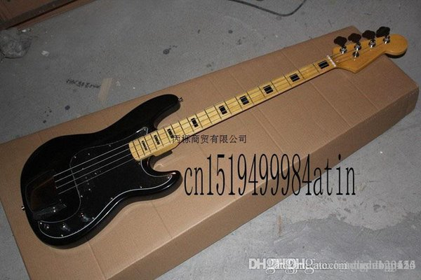 Free shipping Top Quality Lower Price 2015 New FD 4 string black Precision Bass Electric guitar China guitar