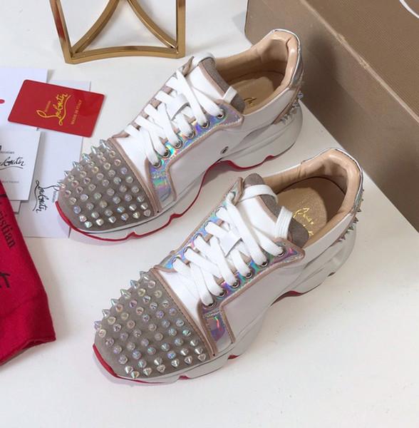 Nuova pelle verniciata delle donne e scarpe di lusso panno progettista raso color-matching tacchi a spillo scarpe casual scarpe basse-top lace-up di moda stessa m