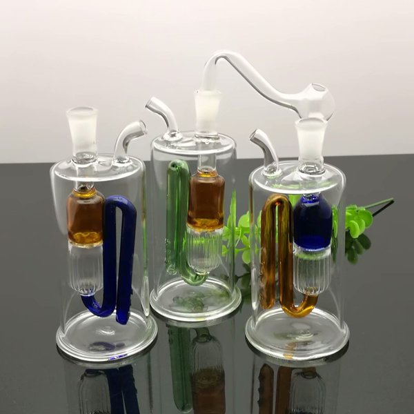 Coloured Bend Filter Glass Pot Wholesale Bongs Oil Burner Pipes Water Pipes Glass Pipe Oil Rigs Smoking Free Shipping
