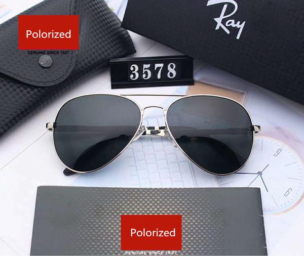Mens Designer De Metal Óculos De Sol De Luxo Óculos De Sol Da Marca Adumbral Óculos de Proteção Óculos de Sol UV400 Polegadas Modelo 3578 5 Cores de Alta Qualidade com Caixa