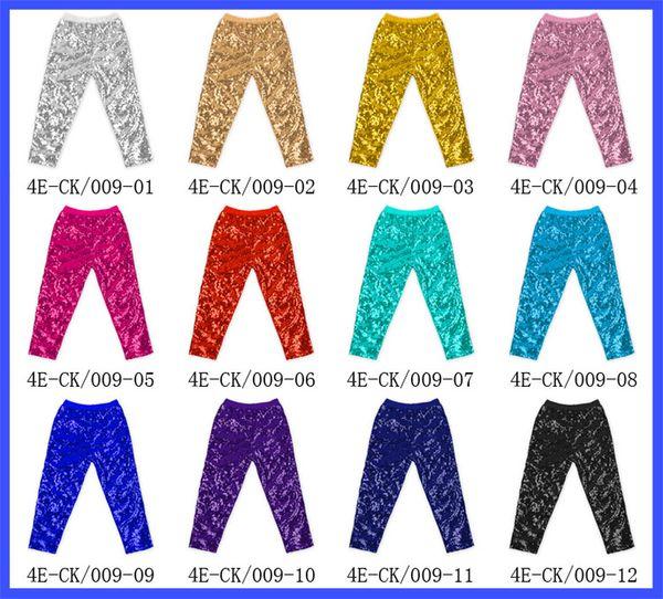 Girls Leggings kids gold sequins pants Autumn New children Bottoms girls princess pants baby girls trouser top quality BY0605