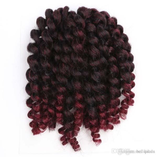 8 pollici Wand Curl estensioni dei capelli Crochet 80 g / pz Havana mambo intrecciatura dei capelli Sintetici Crochet Crochet estensioni dei capelli