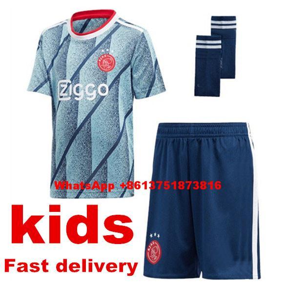 2020 boy child t-shirt camisa ajaxes kids kit jersey 20/21 children neres tadic ven de beek kids football shirt thumbnail
