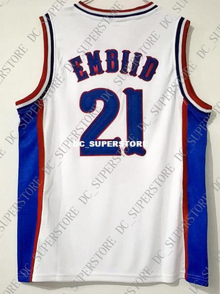 Cheap wholesale Joel Embiid Jersey 21 Kansas Jayhawks College Sewn Jersey Customize any name number MEN WOMEN YOUTH basketball jersey