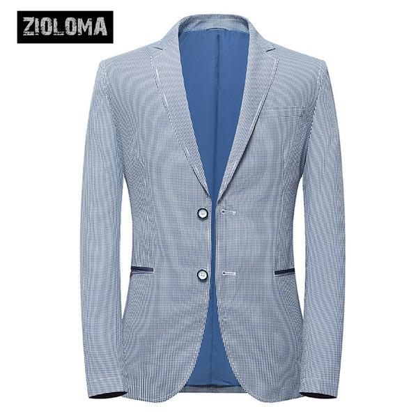 ZIOLOMA Mens Blazer Jacket Slim Fit Bussiness Dois Botão Sólido Terno Jaqueta Separada