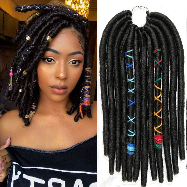2019 Hot! Crochet Goddess Locs Braids 12inches Synthetic Faux Locs Crochet  Braiding Hair Extensions African Hairstyles Soft Dread Dreadlocks From ...
