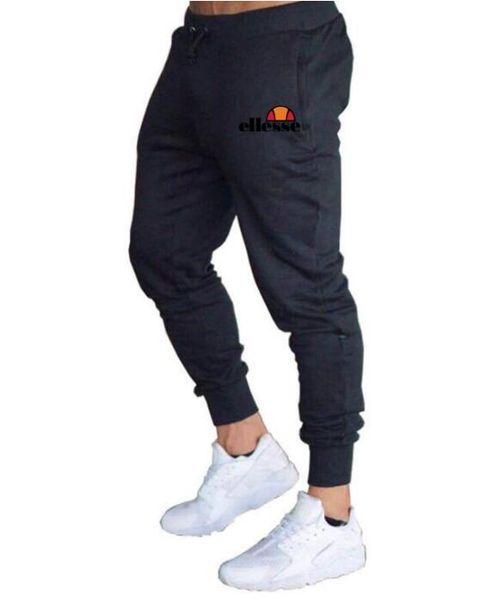 2019Mens Joggers Rahat Pantolon Spor Spor Eşofman Altları Sıska Sweatpants Pantolon Siyah Spor Jogging Yapan Vücut Geliştirme Parça Pantolon wert