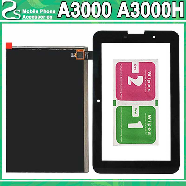 New A3000 LCD Touch Screen For Lenovo Idea Tab A3000 A3000H LCD Display Touch Sensor Glass Digitizer Panel