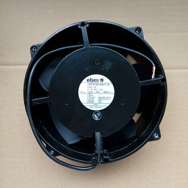 Original de Alemania EBMPAPST W1G180-AB31-10 W1G180-AB31-01 Marco de aluminio de 24V 93W 20cm ultra alta velocidad violencia del ventilador de enfriamiento