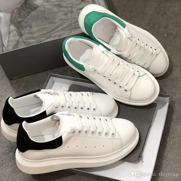 Luxe femmes chaussures de marque sneakers blanc Chaussures de véritable plate-forme formateurs en cuir de style confort assez gros fille chaussures hommes occasionnels