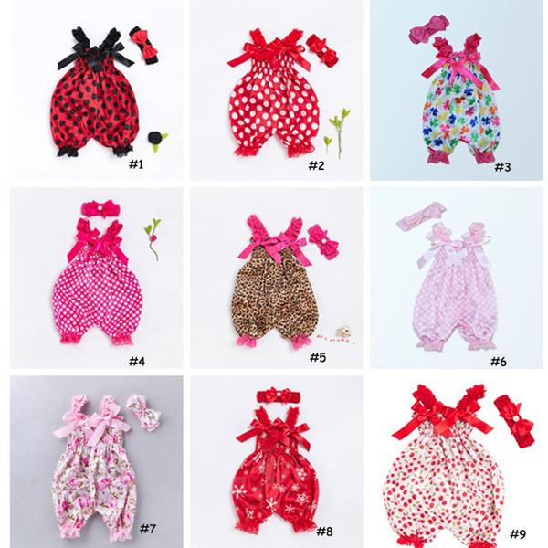 2019 Cute Floral Baby Rompers 2018 Summer Ruffles Jumpsuit Newborn Baby Girls Sunsuit Trajes Niños Niños Monos Ropa 0-24M 0601993