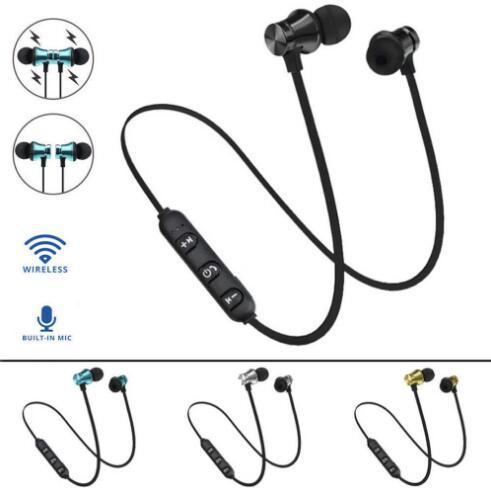 Moda XT11 Cuffie Bluetooth senza fili Sport In-Ear BT 4.2 Stereo Cuffie auricolari magnetiche per auricolari con microfono per cellulare