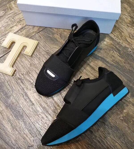 Ventilation fashion NEW Original Box Genuine Leather RUN AWAY Designer Sneakers Women Shoes trainers men Mixed Color 35-45