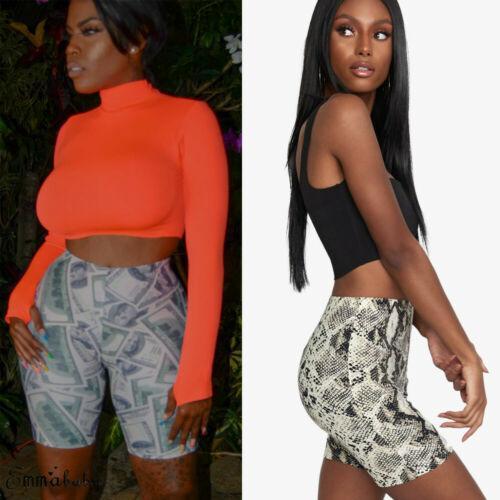 2019 Fashion Women Hot Pants Casual Bodycon Shorts High Waist Stretchy Beach Trousers