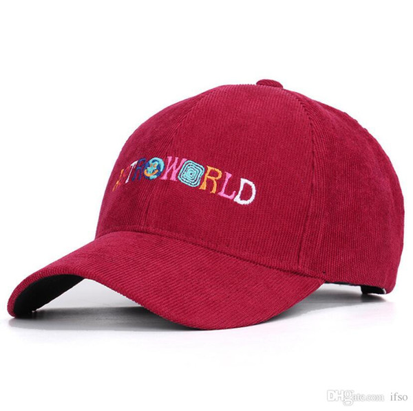 Astroworld Mens Hats WISH YOU WERE HERE Travis Scotts Cap Real Friend Streetwears Smile Earth Baseball Caps