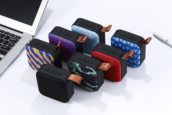 2019 kablosuz Bluetooth mini hoparlör Taşınabilir kart aux usb girişi subwoofer mic ve perakende kutusu ile mobil ses kutusu