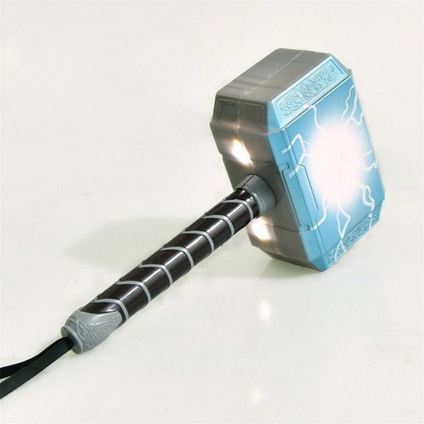 Newarrival Fashion Avengers Alliance LED GlowingSounding Thor's Hammer LED Mask Thor Action Figure Cosplay Brinquedos regalo per bambini