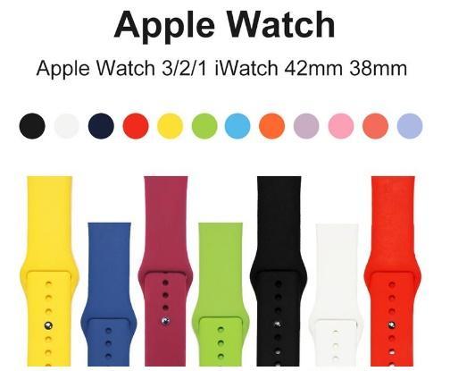 Silikon sport bands ersatz für apple watch band armband mit adapter zubehör 38mm 42mm armband