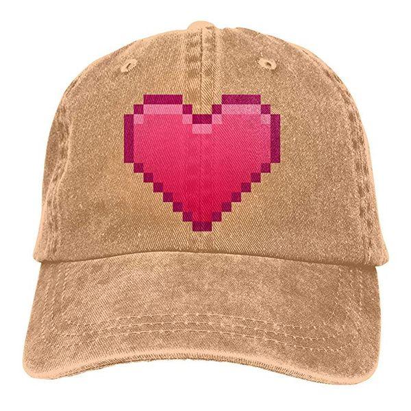 Acheter 2019 Nouvelles Casquettes De Baseball Personnalisées Imprimer Chapeau Pixel Coeur Coeur Coton Ajustable Lavé Twill Casquette De Baseball