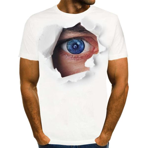 plus size Eye T shirt Men 3d T-shirt Punk Rock Graphic Tee Printed Tshirt Cool Mens Clothing
