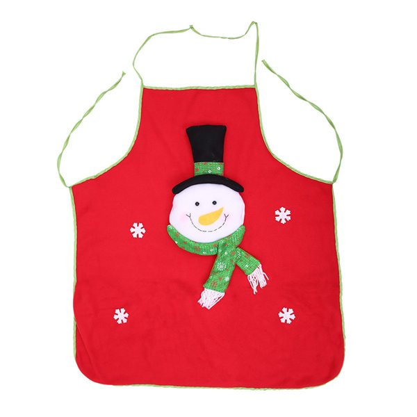 Apron Santa Claus Snowman Cartoon Durable For Kitchen BBQ Barbecue Picnic Christmas HUG-Deals