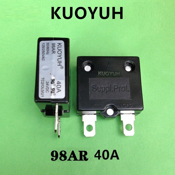 top popular Taiwan KUOYUH 98AR-40A Overcurrent Protector Overload Switch Automatic Reset 2021