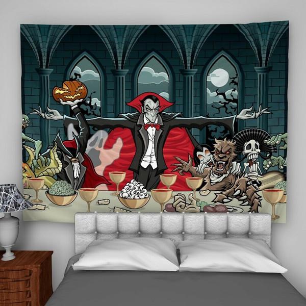 Wandbehang-Tapisserie-psychedelische Schlafzimmer-Inneneinrichtung des Vampirs-Halloween