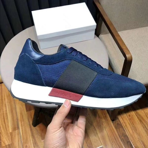2018 European station luxury leather sports shoes for men casual versatile stretch cloth breathable men's fashion shoes yh189601