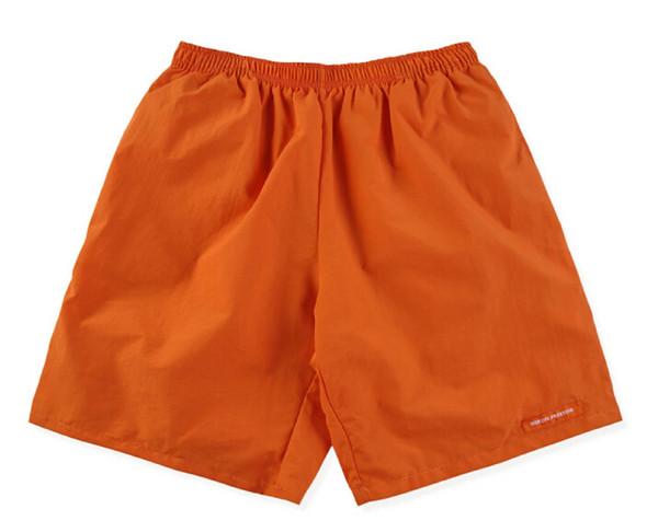 Estate Nuovo HERON PRESTON Pantaloncini da uomo Hip Hop Moda Casual Streetwear Solido nero arancione pantaloncini da spiaggia