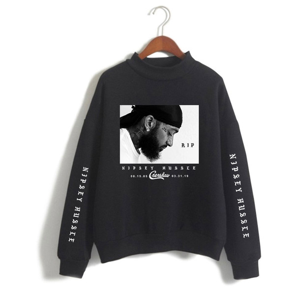 Mens Sweatshirts Nipsey Hussle Fashion Style Loose Pullover Sweater Printing Coat Plus Size Asian Size S-4XL Free Shipping