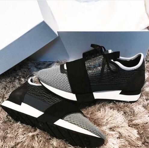 2019 nuovo progettista Albero modello di scarpe casual uomo donna' di moda i colori misti Grigio Nero Mesh Trainer scarpe con la scatola coppia Style 35-46