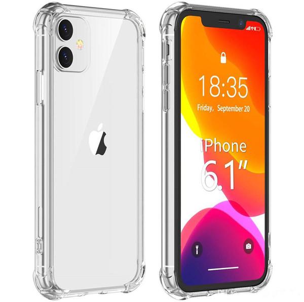 Super Anti-TPU transparent léger coup clair cas de téléphone Couvercle de protection anti-choc Housses pour iPhone 11 pro max 7 8 plus X XS note10 S10