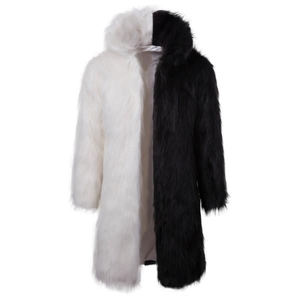 2019 New Arrive Hip Hop Dress Jacket Men Long Open Stitch Turn-down Collar Wool Jacket Casual Dress Clothing