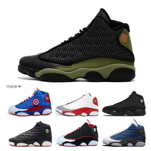Womens Jumpman 13 XIII Basketball Shoes 13s Flints DB Doernbecher Wolf Grey  Toe Hologram Youth Kids Ladies J13 Sneakers With Original Box Boys Running