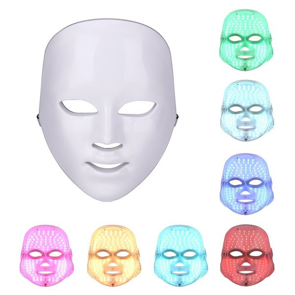 top popular Dropshipping free shipping Photon Electric LED Facial Mask LED mask Light Beauty Skin 7 colors 3 colors women 2020