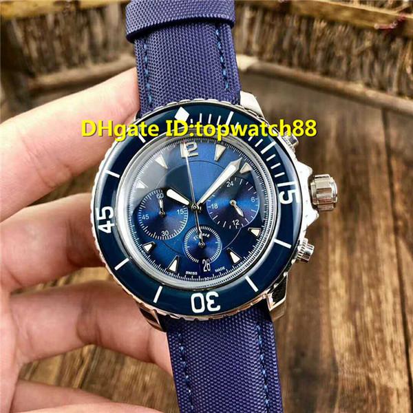Nuovo 5085F-3630-52 orologi di design svizzero al quarzo Cronografo Zaffiro ceramica cassa in acciaio cinturino in nylon super luminoso orologio da uomo