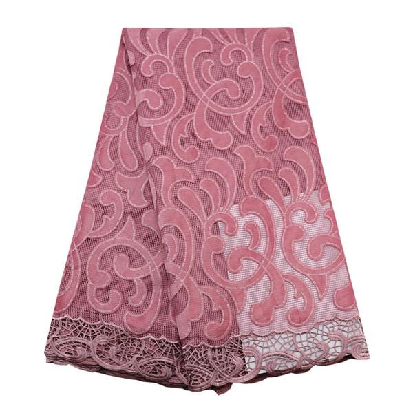 Rose 2019 nouvelle arrivée de qualité en dentelle de tulle avec velours tissu de mariée dentelle de paillettes africain mariage luxe français lacets 239 5 yards