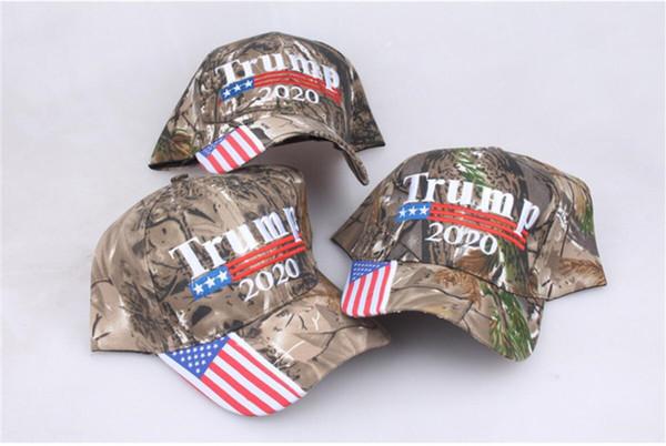 best selling President Donald Trump 2020 MAGA Hat Unisex Camo Color Baseball Cap Strapback US Flag Snapback Sports Beach Jogging Golf Ponytail Caps A5708