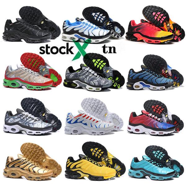 Tn Artı Erkek Ayakkabı Yeni Siyah Beyaz Kırmızı TNS TN Plus Ultra Spor Ayakkabı Ucuz TN Requin Moda Tasarımcısı Sneakers Koşu