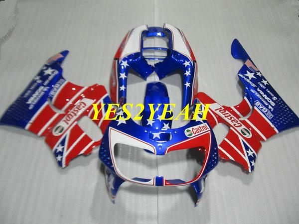Hi-grade Motorcycle Fairing body kit for Honda CBR900RR 893 96 97 CBR 900RR CBR900 RR 1996 1997 Red blue Fairings bodywork+Gifts HX38