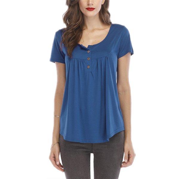2019 frauen Sommer V-ausschnitt Kurzarm T-shirt Lose Sexy Camiseta Feminina T Shirts Weibliche Plus Größe Lange Stil Tops