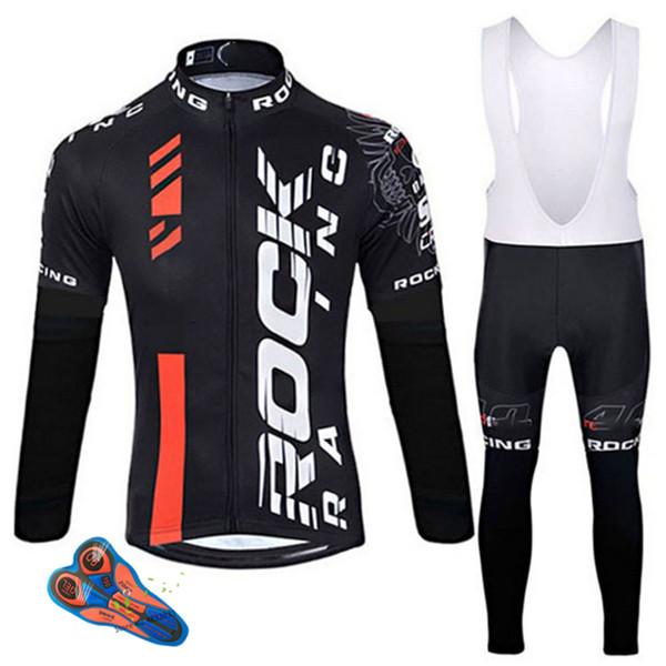 Kaya 2019 İlkbahar / Sonbahar Bisiklet Giyim Erkekler Set Bisiklet Giyim Nefes Anti-Uv Bisiklet Giyim / uzun Kollu Bisiklet Jersey Setleri