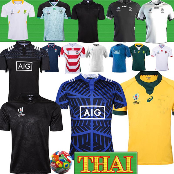 best selling Thailand WALLABIES BLACKS NRL Ireland Australia Fiji Rugby Jersey South Africa jerseys Japan rugby Jerseys 2019 World Cup