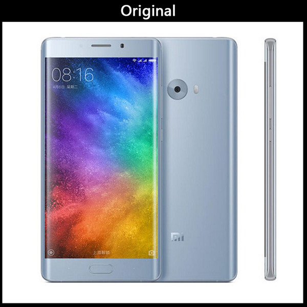 Versão global Original Xiaomi Mi Nota 2 4GB 64GB Mobile Phone Snapdragon S821 Quad Core 5.7inch FHD Fingerprint ID MIUI 8